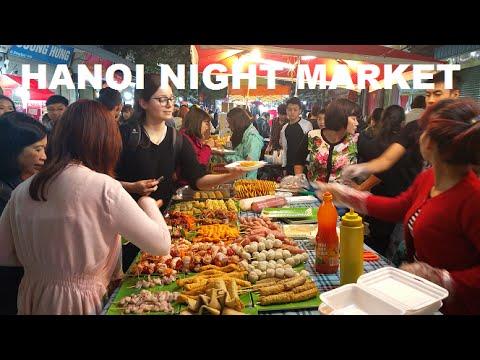 Hanoi Massage Night Market Live Music Old Quarter Vietnam 2016