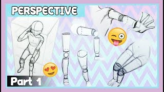 ❤ Draw People IN PERSPECTIVE (PART 1)❤ BASICS Step  By Step ❤ Birds Eye View / From Above