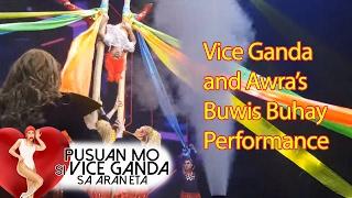 vice ganda and awra s buwis buhay performance at pusuan mo si vice ganda sa araneta
