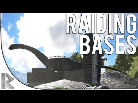 RAIDING BASES! - Valhalla Ark Survival Evolved (S6P10)