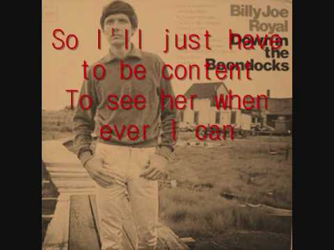 Down In The Boondocks by Billy Joe Royal Lyrics - YouTube