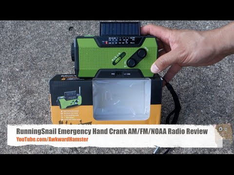 RunningSnail Emergency Hand Crank AM FM NOAA Radio Review