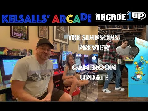 Arcade1up Simpsons Preview + thoughts on making space to accommodate it. How many cabs is too many? from Kelsalls Arcade