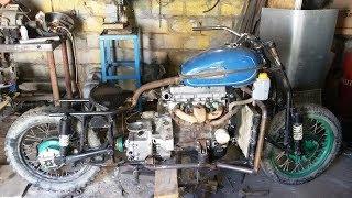 Мотоцикл c двигателем от Ваз 2109  Часть 6.