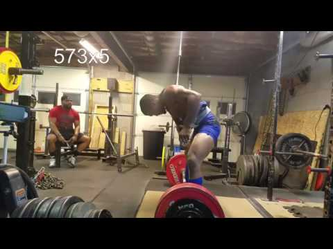 Tony Walton Deadlift training