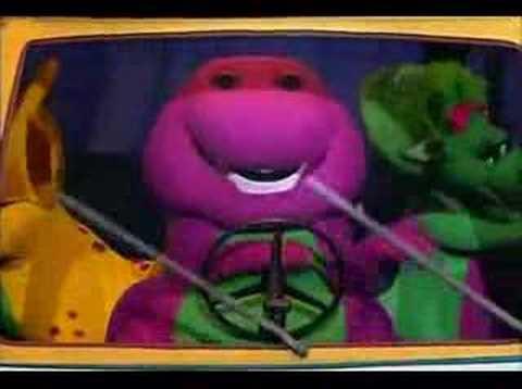 Barney el dinosaurio - Las ruedas del Autobus Videos De Viajes