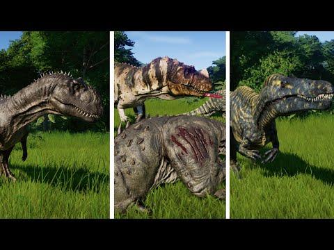 Deluxe Dinosaur Pack vs Ceratosaurus - Dinosaurs Fighting (1080p) |