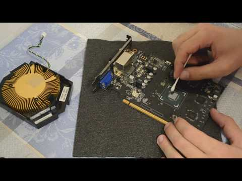 Замена термопасты на видеокарте///GTX 750 Ti