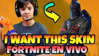 PLAYING *FORTNITE AS IF YOU TAKE THE SKIN OF THE BLACK KNIGHT LIVE SEASON 6