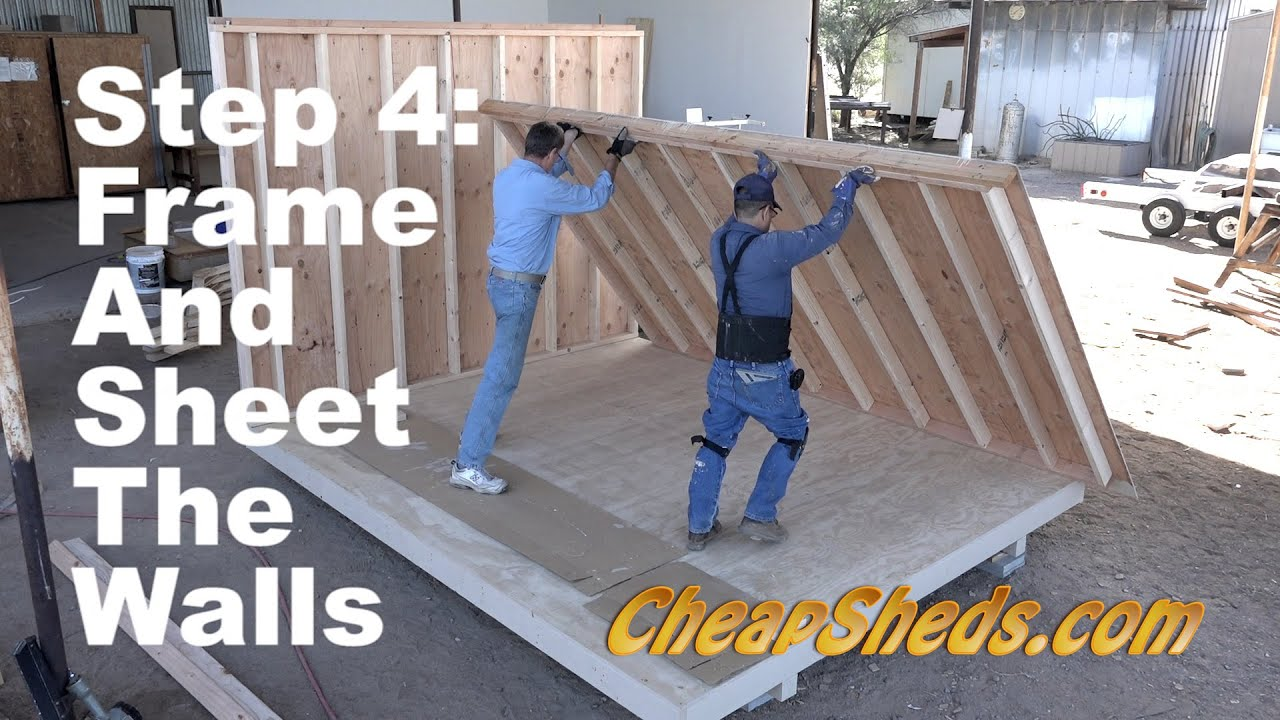 How To Frame And Sheet The Walls For A Tall Barn And