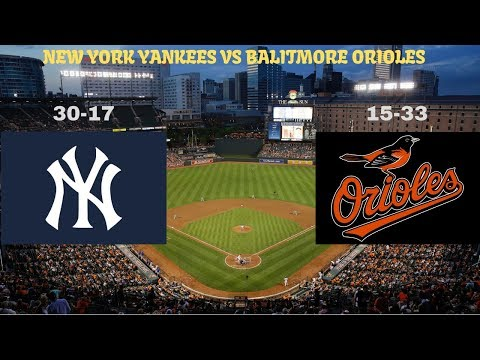 New York Yankees Vs. Baltimore Orioles Live Stream Play By Play & Reaction