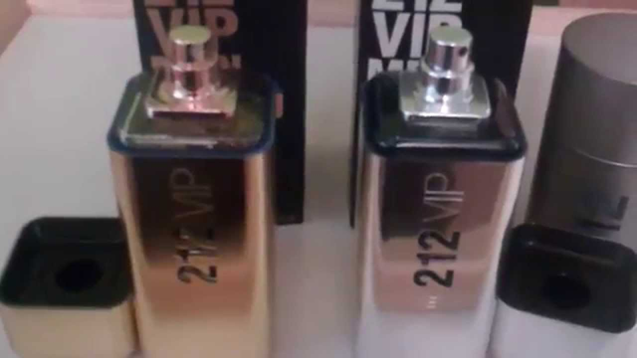 2bcf0ca34 Real vs Fake Part 2 Carolina Herrera 212 VIP for Men Fragrance/Cologne -  YouTube