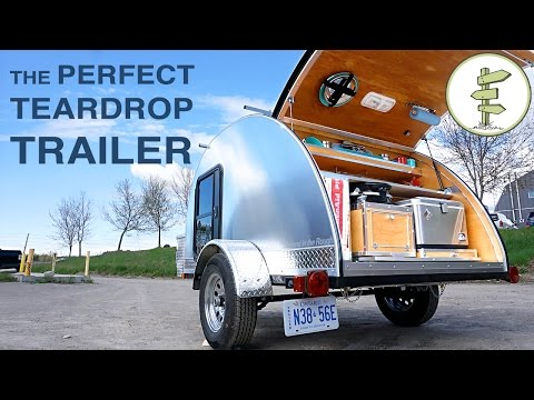 Hand-Built Teardrop Camper Trailer with Solar Power & Running Water - Perfect Mini RV