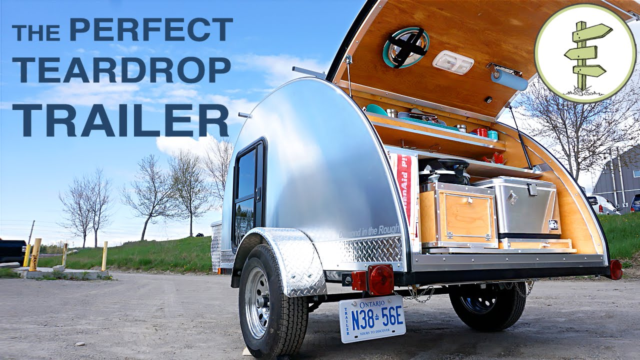 Hand Built Teardrop Camper Trailer With Solar Power Running Water