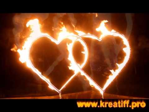 Сердце горящее на свадьбу