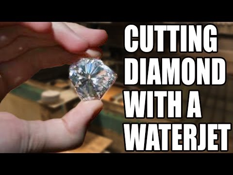 Cutting a HUGE 17 Carat Diamond with 60000 PSI Waterjet - With Cody&39;s Lab