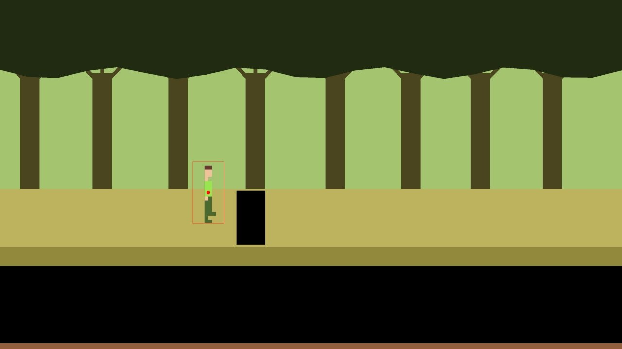 Highlight: Pitfall Style Game 8 - Creating a Screen with a Pit