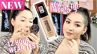 L'OREAL INFALLIBLE FRESH WEAR 24 HR FOUNDATION REVIEW & WEAR TEST ON OILY SKIN! | 12+ HOURS