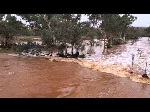 Todd River Flowing - Undoolya Rd.