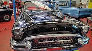 Top Car Detail -  Buick Roadmaster 1955 Pearl Black