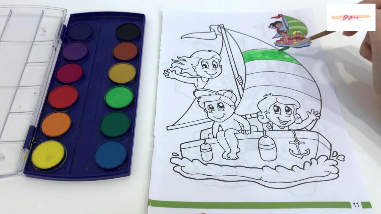 How To Paint Colored Ship Renkli Gemi Boyama Youtube