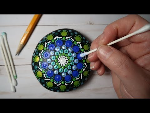 EASY Dot Mandala Stone Painting Using ONLY a Qtip & Pencil FULL TUTORIAL How To | Lydia May thumbnail