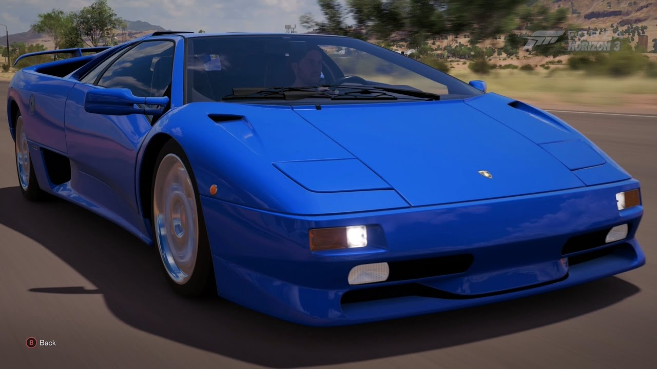 Donald Trump S Lamborghini Diablo Forza Horizon 3 Gameplay Youtube
