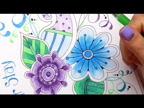 How To Blend Gel Pens With Colored Pencils Youtube