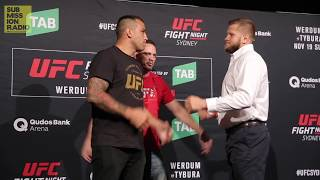 UFC Fight Night Sydney: Werdum vs.Tybura | Media Day Staredowns