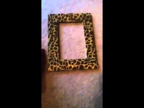 Diy Personalized Picture Frame Youtube