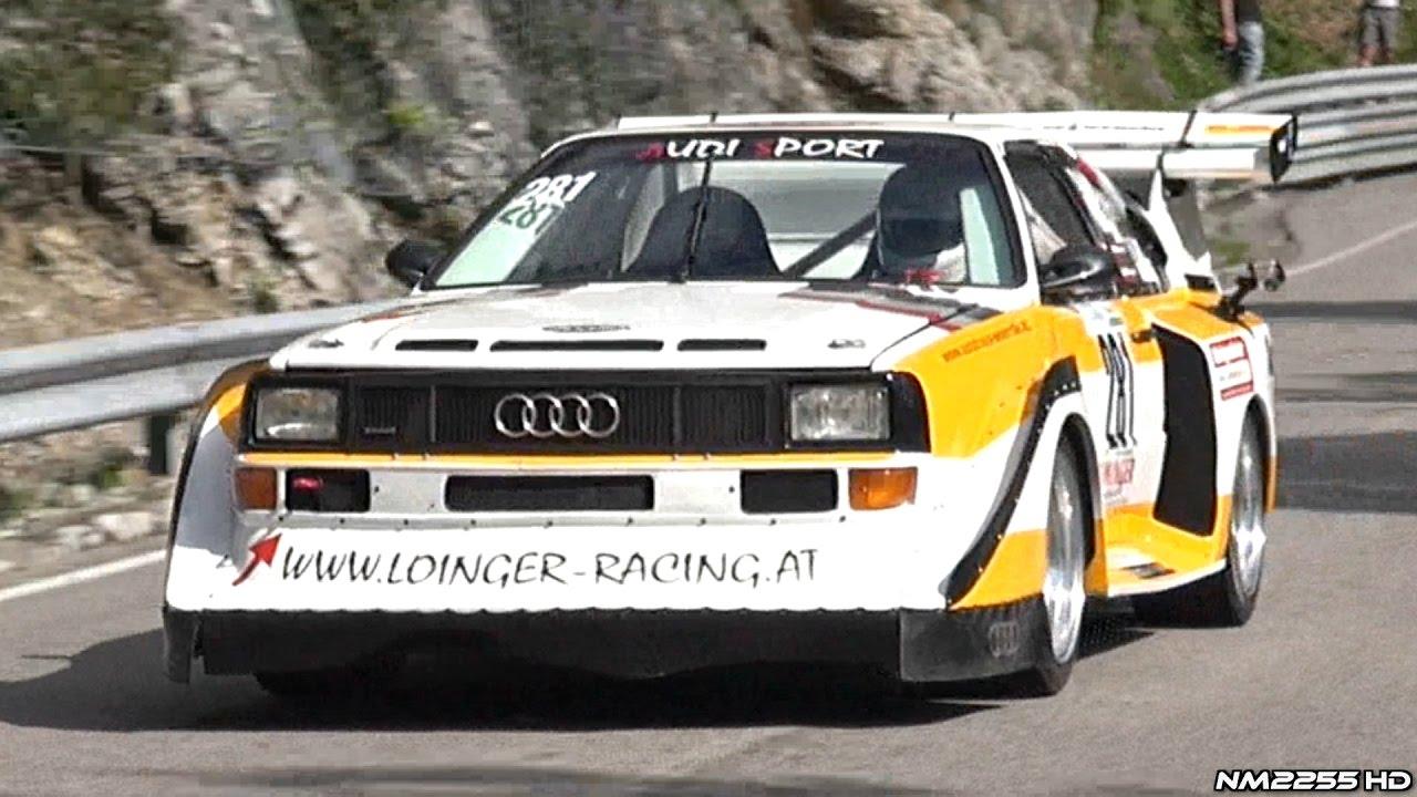 INSANE Audi S Quattro Hillclimb Replica Cylinder Engine SOUND - Audi 5 car