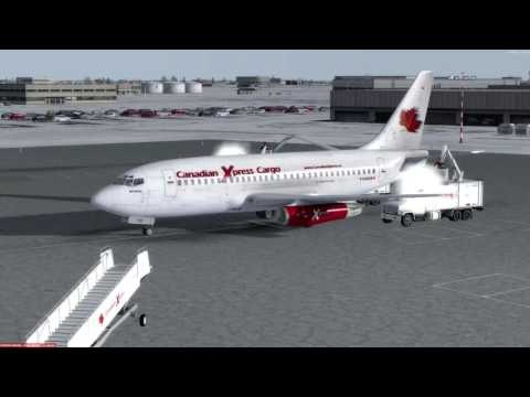 Boeing 737-200F Winnipeg (CYWG) to Yellowknife (CYZF) P3D v3.4