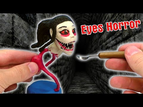 ЛЕПИМ КРЕЙСИ из игры Eyes The Horror Game   Plasticine Tutorial