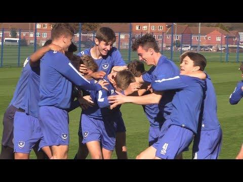 2017/18: Pompey Under-18s take on the Crossbar Challenge
