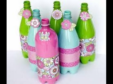 Water Bottle Decoration Custom Decoration With Reuse Empty Cold Drink Bottles Simple And Easy Inspiration Design