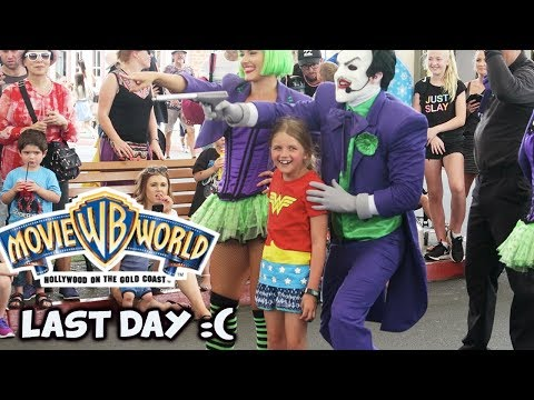 Warner Bros Movie World LAST DAY OF OUR HOLIDAY  :( ~ 2017 Gold Coast Vlog#24