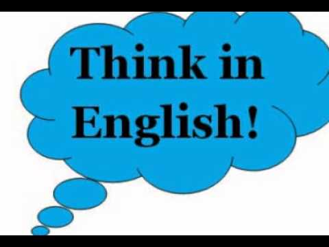 Think in English!