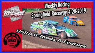 S03 E189 USRA B-Mods A-Feature - Weekly Racing Springfield Raceway 4-20-2019 #DirtTrackRacing