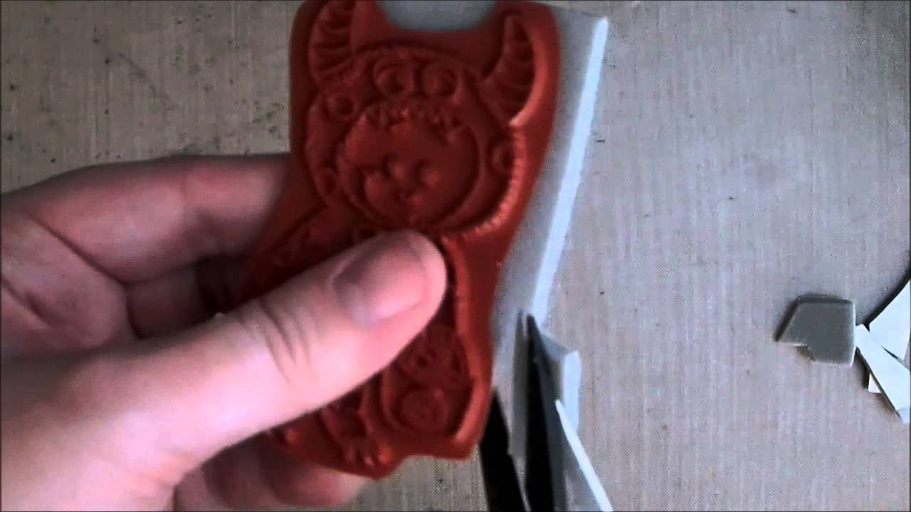 Testing d printed rubber stamps youtube