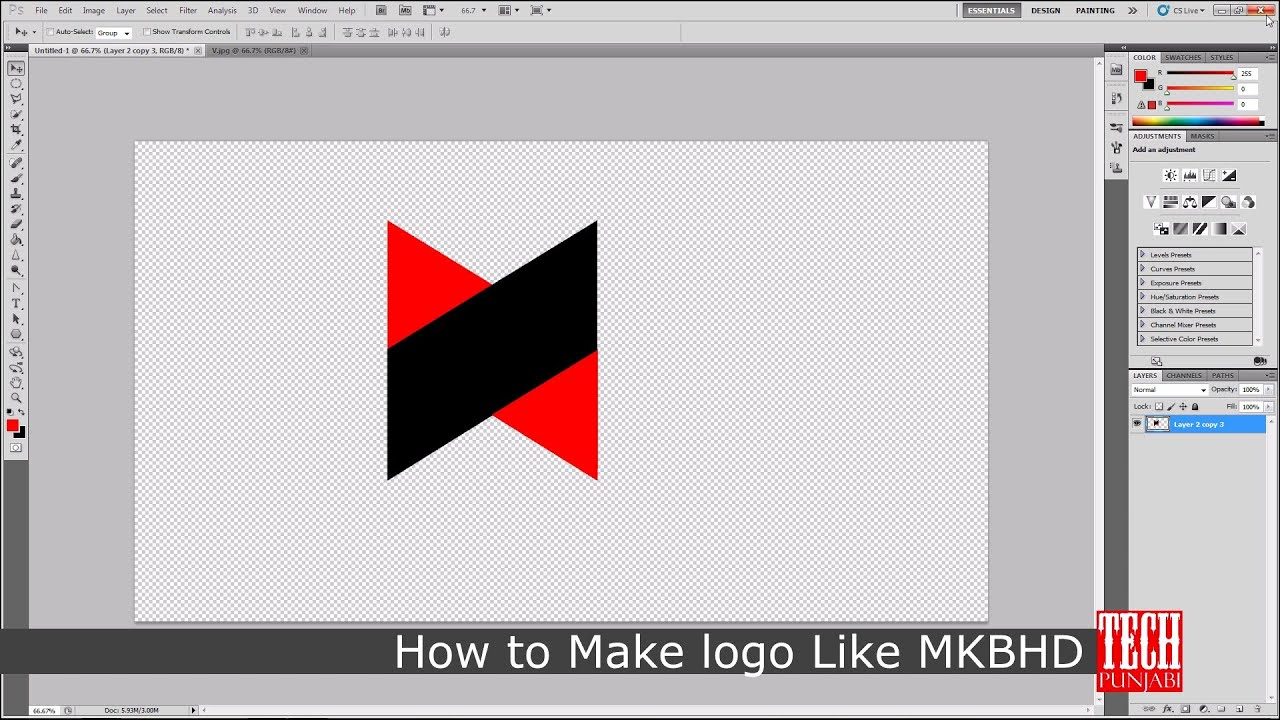 e1d166e3f8ac How to Make MKBHD Logo in Photoshop - YouTube