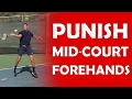Mid Court Forehand | PUNISH SLOW BALLS