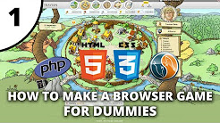 How to make a browser game for dummies - PHP / HTML / CSS