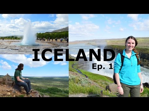 ISLANDA Vlog 1 ✈ Reykjavík, geyser e cascate! Viaggio on the road