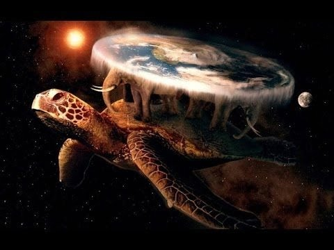 Image result for giant turtle flat earth