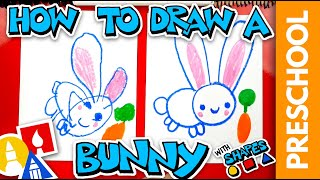 Drawing A Bunny With Shapes - Preschool  - #stayhome and draw #withme