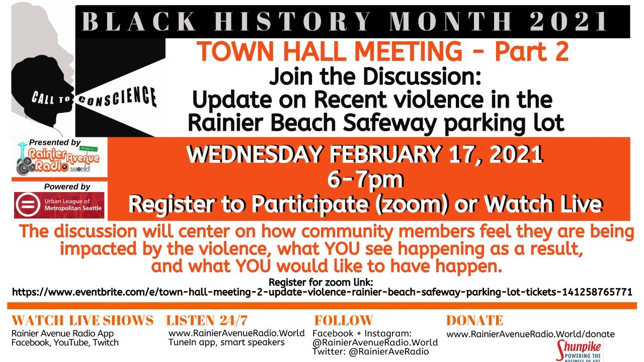 WATCH Rainier Avenue Radio's Town Hall Meeting 2: Violence in Rainier Beach Safeway parking lot