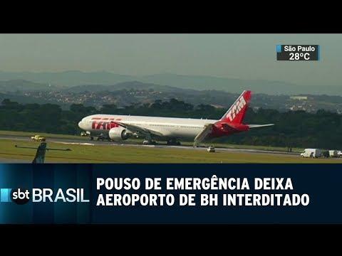 Pouso de emergência deixa aeroporto de Belo Horizonte interditado | SBT Brasil (20/12/18)
