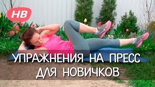 Простейшие Упражнения на Пресс для Начинающих. Елена Силка