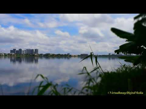 Clouds Slow Motion Reflects in Water | Great Visual  |Varthur Lake | Bangalore