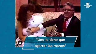 """Exhiben videos de la """"mano larga"""" de Enrique Guzmán con su hija y Verónica Castro"""